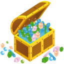 Treasure Chest Open Emoticon