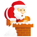 Santa Chimney Emoticon