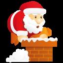 Santa Chimney Emoticon