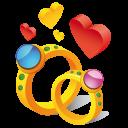 Ring Hearts Emoticon