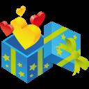 Gift Hearts Emoticon