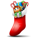 Socks With Christmas Things Inside Emoticon