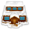 House With Snow Emoticon