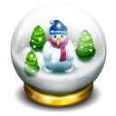 Glass Snow Ball Emoticon