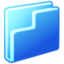 Folder Blue Emoticon
