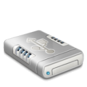 USB Drive Dark Emoticon