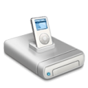 Ipod Music Drive Dark Emoticon