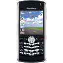 BlackBerry Pearl Black Emoticon