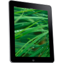 Ipad Side Grass Background Emoticon