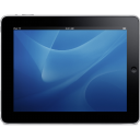Ipad Landscape Blue Background Emoticon