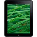 Ipad Front Grass Background Emoticon
