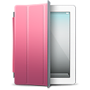 Ipad White Pink Cover Emoticon