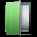 Ipad Black Green Cover Emoticon