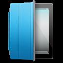 Ipad Black Blue Cover Emoticon