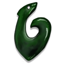 Greenstone Fish Hook Emoticon