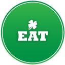 St Patricks Day Eat Emoticon