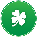 St Patricks Day Clover Emoticon