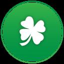 St Patricks Day Clover Emoticon