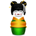 Geisha Korea Green Emoticon