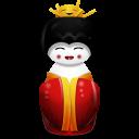 Geisha China Red Emoticon