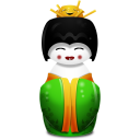 Geisha China Green Emoticon