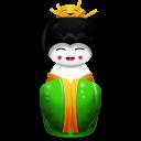 Geisha China Green Emoticon