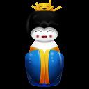 Geisha China Blue Emoticon