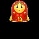 Red Matreshka Upper Part Emoticon