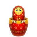 Red Matreshka Inside Icon Emoticon