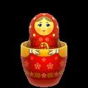 Red Matreshka Inside Icon Emoticon