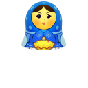 Blue Matreshka Upper Part Emoticon