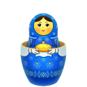 Blue Matreshka Inside Icon Emoticon