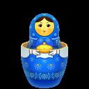 Blue Matreshka Inside Icon Emoticon