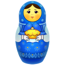 Blue Matreshka Emoticon