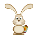 Easter Bunny Egg Emoticon