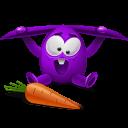 Violet Rabbit Emoticon