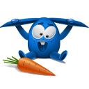 Blue Rabbit Emoticon