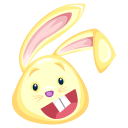 Yellow Rabbit Emoticon