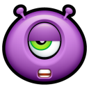 Alien Talk Tired Emoticon