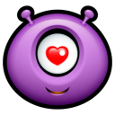 Alien Love Emoticon