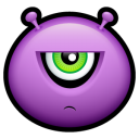 Alien Displeased Emoticon
