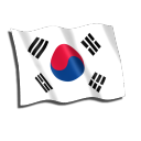 South Korea Flag Emoticon