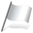 Solid Color White Flag 3 Emoticon