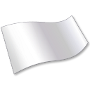Solid Color White Flag 2 Emoticon