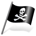 Pirates Jolly Roger Flag 3 Emoticon