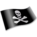 Pirates Jolly Roger Flag 2 Emoticon