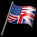 English Language Flag 3 Emoticon
