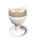 Boiled Egg 2 Emoticon