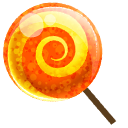 Candy Orange Emoticon