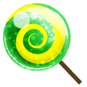 Candy Green Emoticon